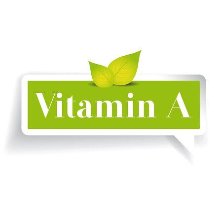 vitamin: Vitamin A label vector