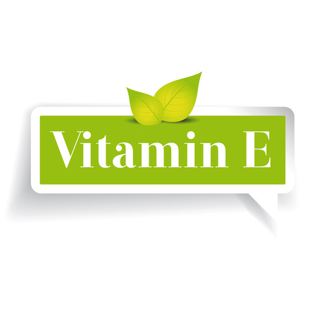 Vitamin E label vector Illustration