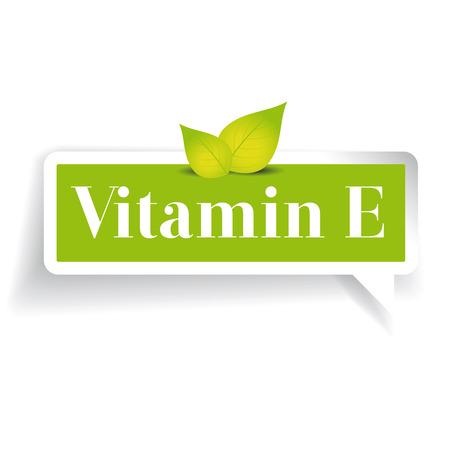 vitamin: Vitamin E label vector Illustration