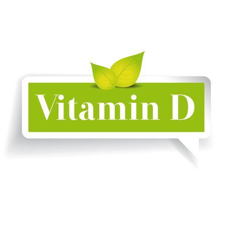 vitamin d: Vitamin D label vector