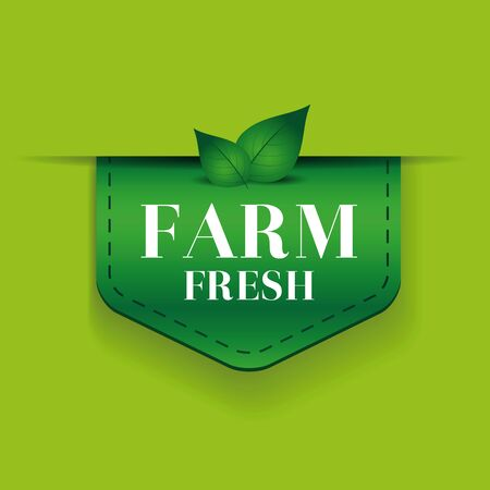 preservatives: Farm Fresh ribbon vector green