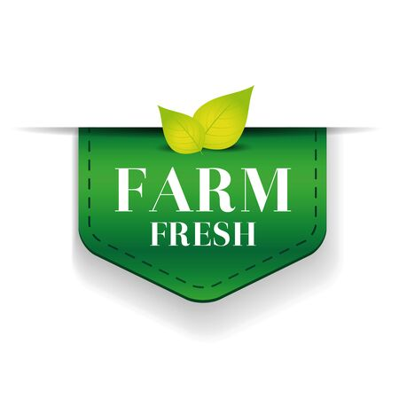 inspected: Farm Fresh ribbon vector green