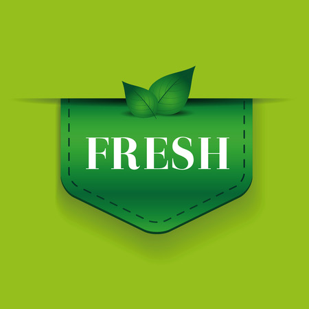 green ribbon: Fresh green ribbon vector Illustration