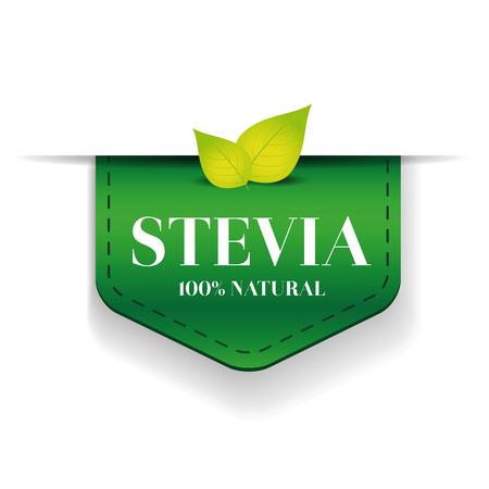 substitute: Stevia ribbon vector green Illustration