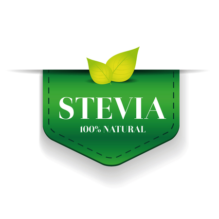 Stevia ribbon vector green Ilustrace