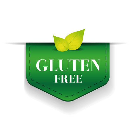 celiac: Gluten free ribbon vector label