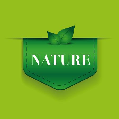 green ribbon: Nature green ribbon vector