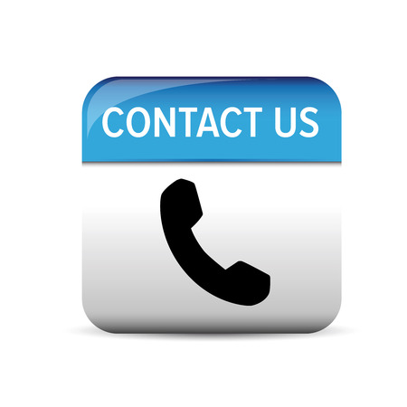 get in touch: Contact us button vector