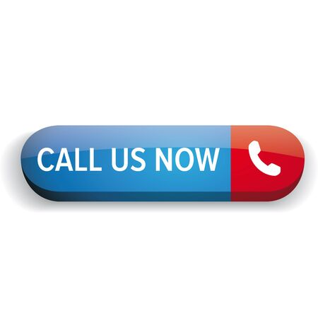 get in touch: Call us now button vector Illustration