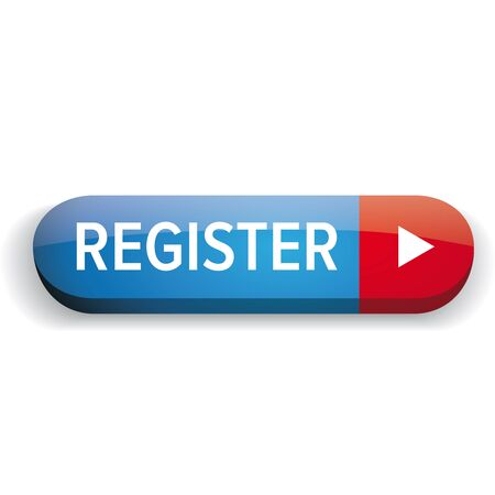 Register button vector blue and red