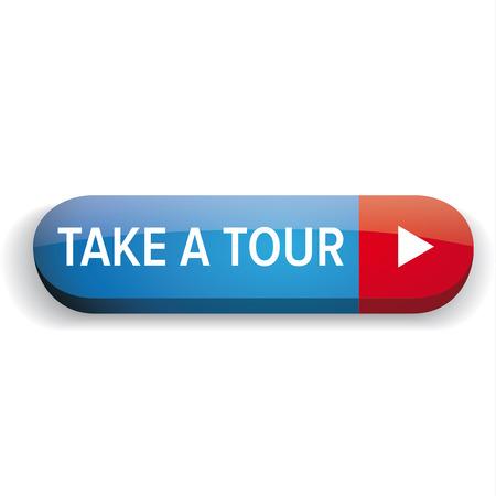 take a tour button vector