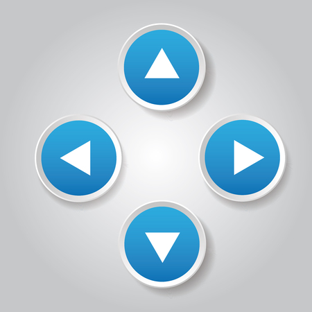 up and down: Left Right Up Down button vector