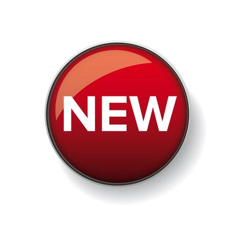 modern design: New button vector red