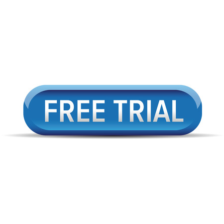 shareware: Free trial button vector blue Illustration