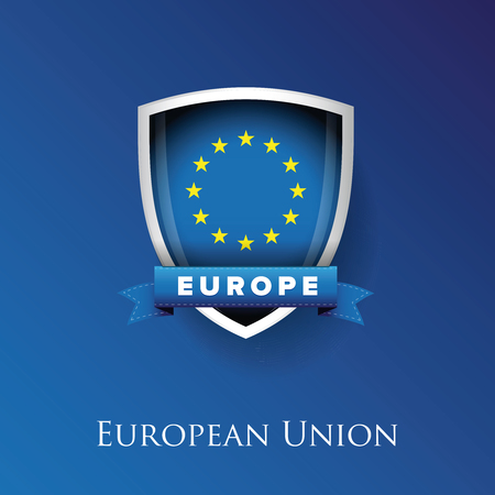 proportional: EU - European union flag and shield