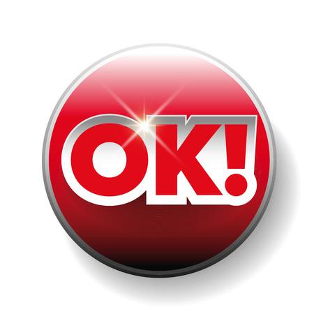 ok: OK sign letteging vector Illustration