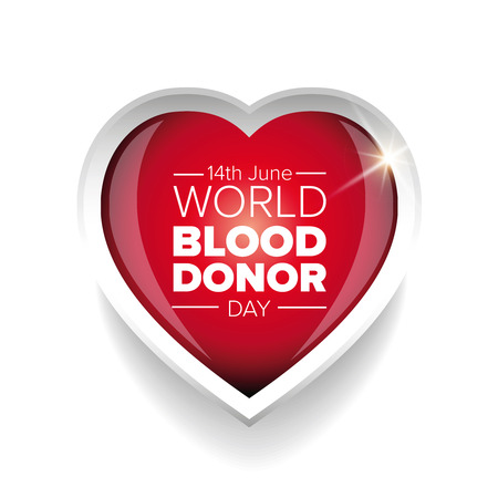 observance: World blood donor day-June 14th. vector Illustration