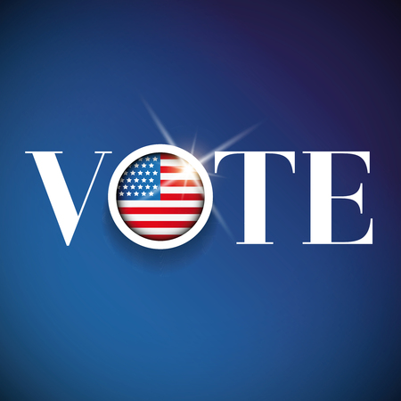 アメリカ - 選挙ポスターを投票します。