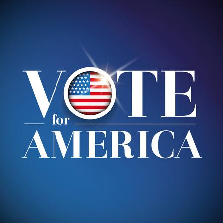 democracia: Vota por Am�rica - cartel electoral