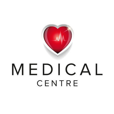 Medical centre design with heartt Illustration