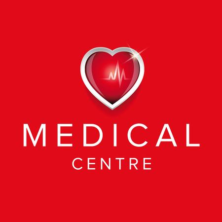 cardioid: Medical centre design with heartt Vectores