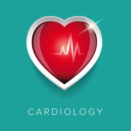 heart clipart: Cardiology design with heartt