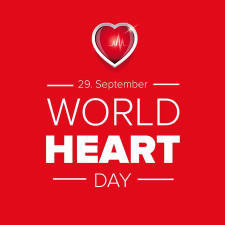 世界心臓の日のベクトルの背景