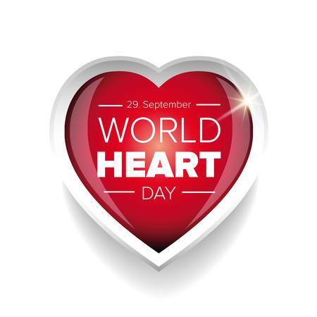 Wereld Hart Dag van de vector Stock Illustratie