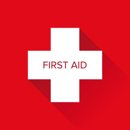 cross vector: First Aid cross vector