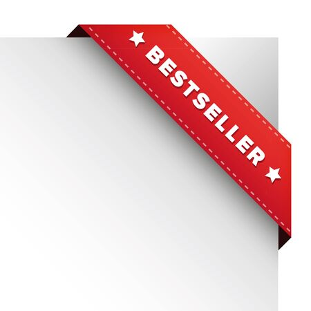 Bestseller red ribbon vector Illustration
