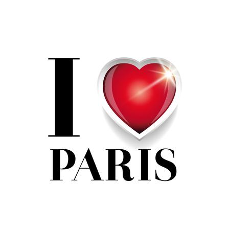 i love paris: I love Paris vector Illustration