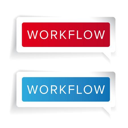 workflow: Workflow concept label vector Illustration