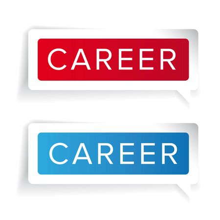 activate: Career concept label vector
