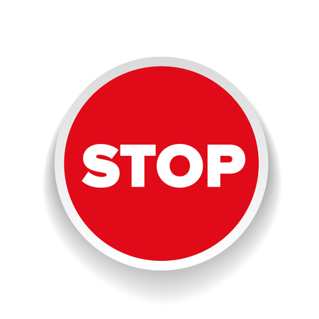 slow down: Stop sign vector label
