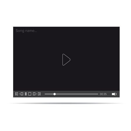 windows media video: Flat video player for web and mobile apps