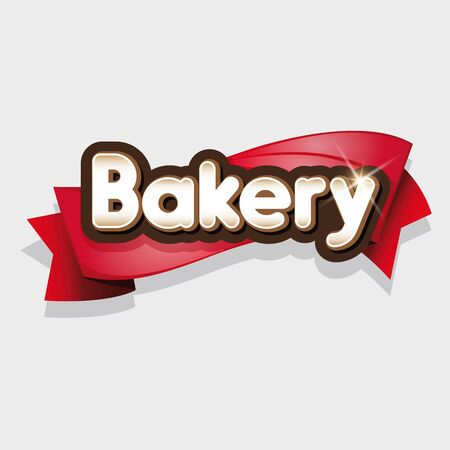 cake stand: Bakery sign or  vector Illustration