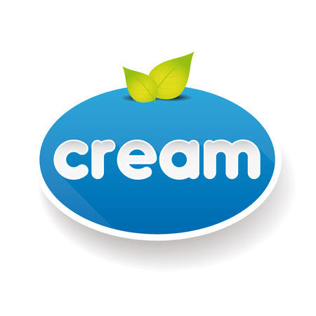 souffle: Cream sign label vector Illustration