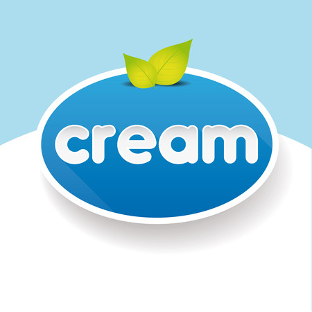 souffle: Cream sign label vector Illustration