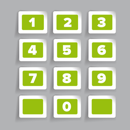 numbers: Numbers set. Vector label