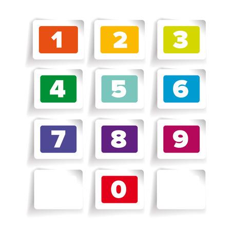Numbers set. Vector label