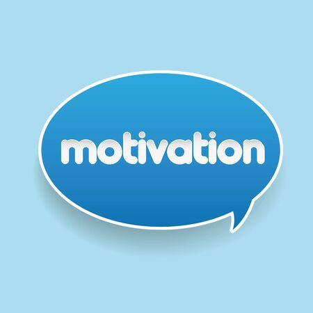 overcome: Motivation label speech bubble