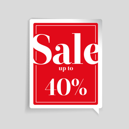 40: Sale up to 40% off sale label
