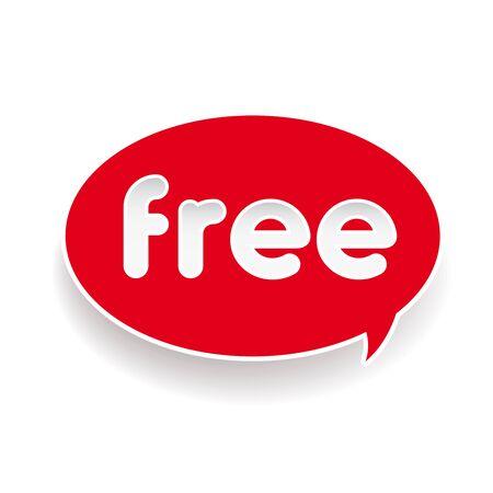 choke: Free red label speech bubble