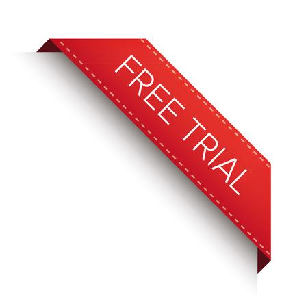 Free trial corner ribbon