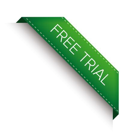 choke: Free trial corner ribbon vector