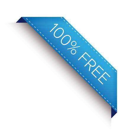 choke: 100% free corner ribbon Illustration