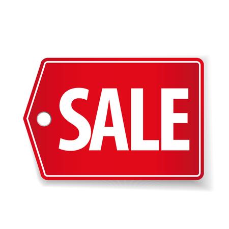 pricetag: Sale pricetag red vector Illustration