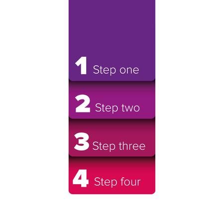bar one: One two three four steps progress bar label