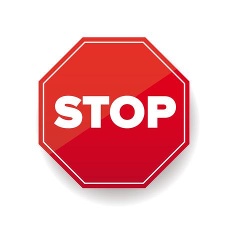 traffic ticket: Stop sign vector red Illustration