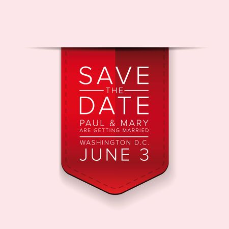 tearaway: Save the date ribbon